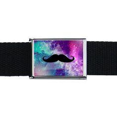 Galaxy Mustache Belt Buckle  - Accessories