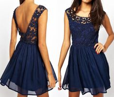 Fashion lace sleeveless mini dress #AD32919