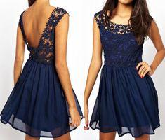Fashion lace sleeveless mini dress #AD32919