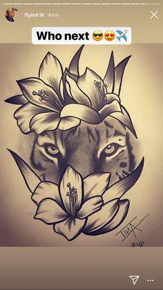 Wolf Eye Tattoo, Big Cat Tattoo, Tiger Tattoo, Sweet Tattoos, Love Tattoos, Body Art Tattoos, Unique Animal Tattoos, Unique Tattoos, Girl Stomach Tattoos