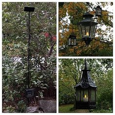 DIY Solar lanterns from the dump.