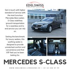 The only experience more relaxing than driving an S-Class is if you're in the back seat, being chauffeured 🚗😌💆 Mercedes Benz Sedan, Mercedes Sprinter, Ground Transportation, Benz S Class, Back Seat, Limo, Luxury