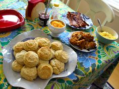 Biscuit bar -- great for football brunch!