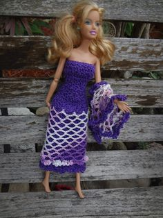 Niftynnifer's Crochet & Crafts: Free Barbie Shawl Crochet Pattern