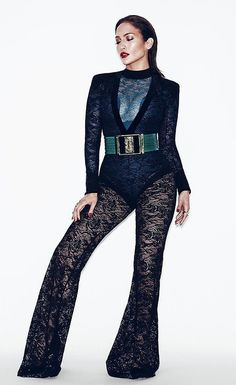 Jennifer Lopez wearing Balmain photographed by Nicolas Moore.
