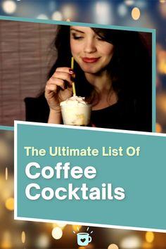 Alcoholic Coffee Drinks, Coffee Drink Recipes, Coffee Cocktails, Coffee Type, Best Coffee, Iced Coffee Protein Shake Recipe, Coffee Health Benefits, Bulletproof Coffee, Starbucks Coffee
