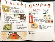 Just thought I'd share my Thanksgiving planning pages 😬🍁🍗 I got my inspiration from pictures of vintage cookbooks on Pinterest. I don't…