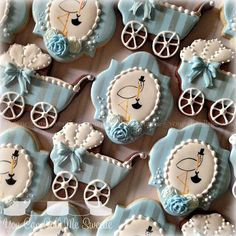 Baby Sower Stork & Carriage Cookies