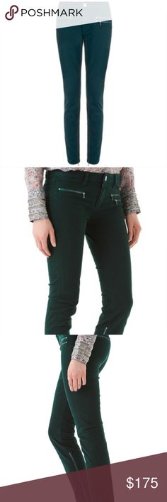 Victoria Beckham Denim Sea Green Multi Zip Skinny Victoria Beckham Denim Sea Green Multi Zip Skinny Jeans, with ankle zip. In perfect condition, no damage or discoloration. Victoria Beckham Jeans Skinny