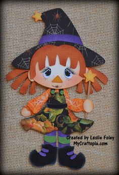Witch Raggedy Premade Halloween Scrapbooking by MyCraftopia, $6.95