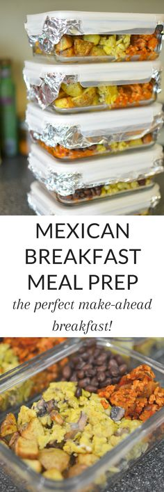 Mexican Breakfast Meal Prep - Need an easy make ahead breakfast? Full of protein, veggies, and fiber, this i - Cooking Recipes, Healthy Recipes, Healthy Meals, Delicious Recipes, Easy Recipes, Healthy Food, Healthy Eating, Freezer Meals, Easy Meals