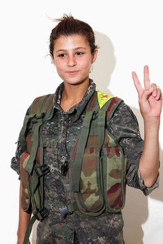 Marie Claire. 09.2014 These Remarkable Women Are Fighting ISIS. It's Time You Know Who They Are. The YPJ (pronounced Yuh-Pah-Juh) or the Women's Protection Unit, an all-women, all-volunteer Kurdish military faction in Syria. So young... and so brave.