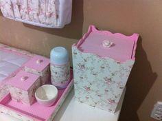 Kit Higiene bebê menina floral Fernando