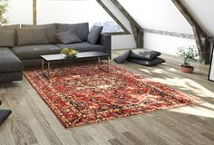 Modern loft interior / Contemporary lounge couch / Persian and Oriental Carpets / Bakhtiar