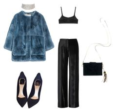 """""""Does it teal you apart at night?"""" by astrro on Polyvore featuring Marni, Araks, Christian Dior, Marina J., Maiyet, women's clothing, women, female, woman and misses"""