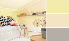salon couleurs pastel jaune citron