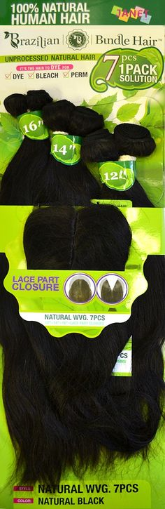 Janet Collection 100% Human Hair NATURAL WVG 7PCS (1 Pack All)
