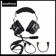 Aviation Headset Noise Cancelling Headphones Walkie Talkie 2021 ❤️ Pin it please on your board Noise Cancelling Headset, Tac Gear, Spy Gadgets, Background Noise, Two Way Radio, Sound Proofing, Walkie Talkie, Over Ear Headphones, Accessories