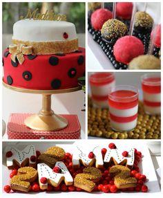 Ladybug themed birthday party Full of Really Cute Ideas via Kara's Party Ideas! Full of decorating tips, decor, cupcakes, cakes, printables,...