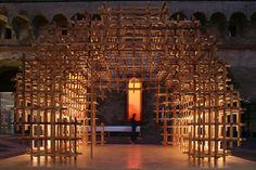 Kengo kuma, CIDORI, Exhibition title, Milano Salone 2007 (100 years of Mondadori Milano Capitale del Design Decode Elements)  Castello Sforzesco, Milan, Italy