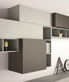 Mueble modular de pared composable lacado SLIM 89 Colección Slim by Dall'Agnese | diseño Imago Design, Massimo Rosa