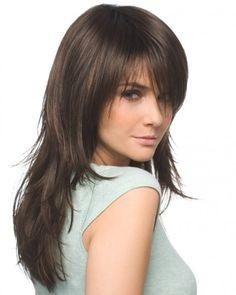 Corte cabello medio largo mujer
