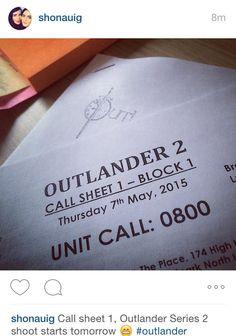 YAY RT @primrosesandrue Season 2 is startinnnnggggg!!!!!!! #Outlander