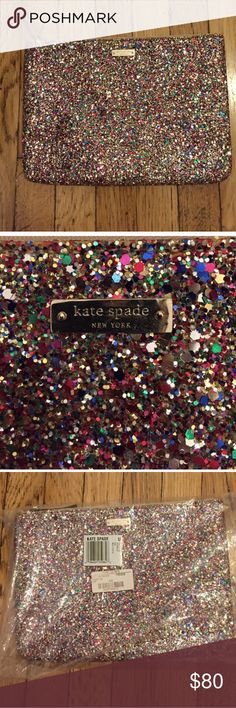 Kate Spade Sparkler Gia clutch Used once. Perfect condition. It's stunning in person! kate spade Other
