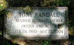 Tony Randall's grave, located at Westchester Hills Cemetery in Hastings-on-Hudson, NY.