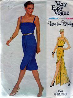 Vogue 2343 Sewing Pattern Womens Summer Long Dress Diane Von Furstenberg Sz. 10 | eBay
