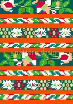 Folk by Irina Arnautu available for download as a vector file on patterndesigns.com Vector Pattern, Pattern Design, Repeating Patterns, Vector File, Folk, Illustration, Artwork, Work Of Art, Popular