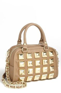 BETSEY JOHNSON                                                                                                     Gold Studded Satchel                                                                                                    ✤HAND'me.the'BAG✤