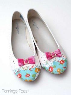 mod podged shoes