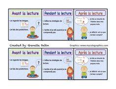 SIGNETS- AVANT, PENDANT, APRèS-STRATéGIES DE LECTURE- READING STRATEGY BOOKMARKS - TeachersPayTeachers.com