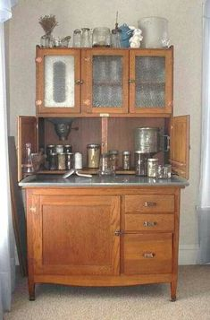 I would love to have a Hoosier cupboard like this one!