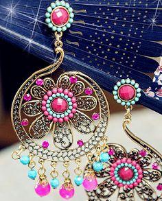 Bohemian style long earrings