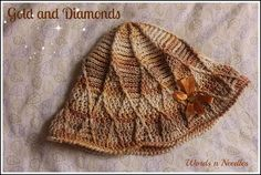 Gold and Diamonds: Crochet Hat Pattern - WORDS AND NEEDLES