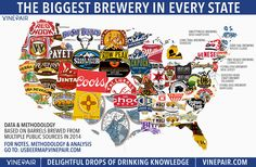 MAP: The Biggest Brewery In Every State In America