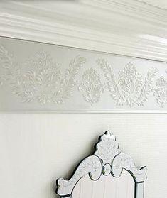 Paintable Wallpaper On Embossed Wallpaper Border