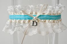 The Blue Initial Garter on Destination I Do Blog::Wedding Advice from the Editors at Destination I Do Magazine