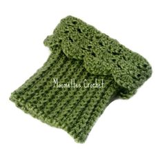 Love the scallop on top. Handmade crochet Boot Cuffs, Legwarmers are very stylish for cooler weather! These trendy boot socks, boot toppers are this winter season's must-have fashion accessory for women and teens.    Handmade crochet with scallop edge.    Made from soft acrylic yarn in shades of Sage Green    Ribbed bott...