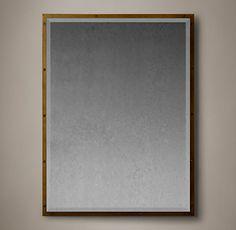 Bistro Antiqued Brass Mirrors