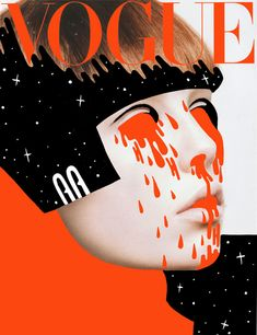 'Doodle bombing' Vogue magazine by illustrator Hattie Stewart.