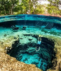 Devils Eye at Ginnie Springs in Florida
