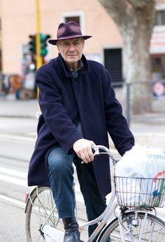 Stylish gent on bike