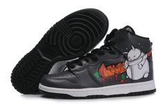 Nike Dunk High Custom Fat Rabbit Carrot Black