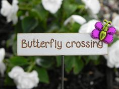 Fairy Garden accessories sign miniature by TheLittleHedgerow, $6.50