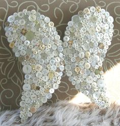 Vintage button Angel Wings by deezie on Etsy...how wonderful are these?!