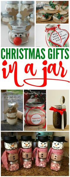 Christmas Gift in Jars! If you are looking for Cheap Christmas Gift Ideas for yo… Christmas Gift in Jars! If you are looking for Cheap Christmas Gift Ideas for your friends and teachers, these gifts in jars are sure to be a hit! Cheap Christmas Gifts, Teacher Christmas Gifts, Homemade Christmas Gifts, Christmas Fun, Holiday Crafts, Christmas Items, Christmas Gifts For Neighbors, Handmade Christmas, Diy Gifts For Friends Christmas