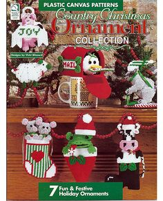 Country Christmas Ornament Collection Plastic by grammysyarngarden, $5.00